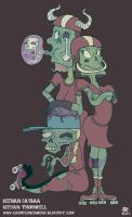 Zombie Roller Derby Concept Art 3 by Cosmic-Onion-Ring