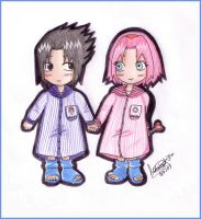 Sasusaku in the nursery by MoniSaku