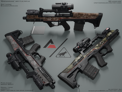 'Greyhound' battle rifle - view 1 by xaotherion
