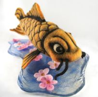 Needle Felt Koi Fish - Available by AlwaysSuagarCoated
