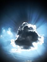 Cloud Beams by P5YD3X