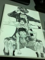Luffy, Ace, Sabo by bodskih