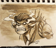 Ink Paint - Charr Rhexe by ZombiDJ