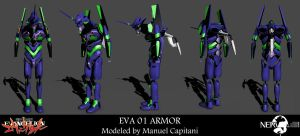 EVA 01 Armor from Evangelion by Akiba91