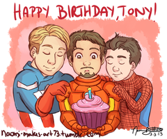 Happy Birthday, Tony! by naomi-makes-art73