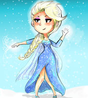 Elsa the Snow Queen  :spenstyle: by spenzbowart