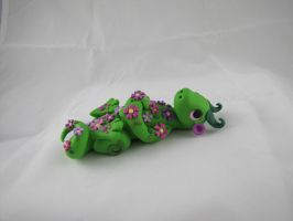 Polymer Clay Flowers Dragon by RaLaJessR