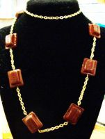 Chocolate necklace by AnaInTheStars