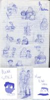 A lot of sketches of Buford and Baljeet by Albaharu