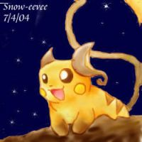 Midnight Raichu by Snow-Eevee