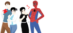 pete and val spidey and scarla by art-is-my-bream