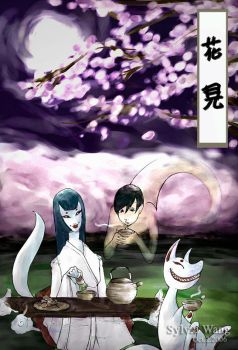 Hanami - Ivan and Fox Spirits by cyrine