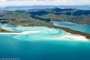 Whitehaven Beach (Aerial View) by tawunap159