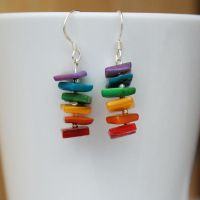 Rainbow Earrings by Wings-On-Fire