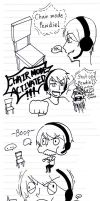Pewdie face when activated chair mode!! by selrebro