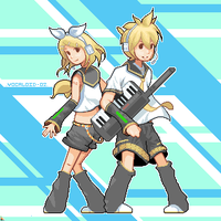 Vocaloid 02 - Rin and Len by Karzahnii