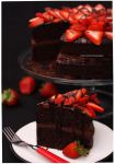 Strawberry Dark Fudge Chocolate Therapy Cake by theresahelmer