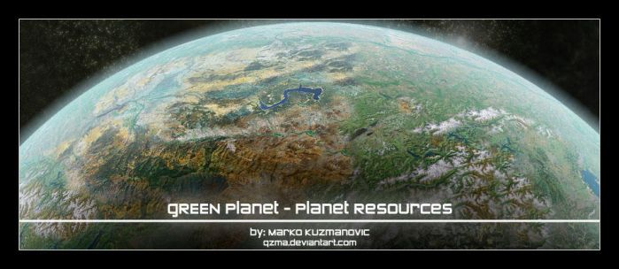 Planet Resources: Green Planet by Qzma