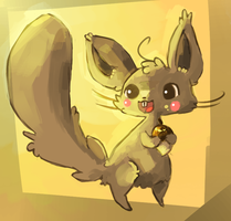 Art trade: Silly Squirl the Squirrel by Teatime-Rabbit