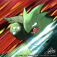 Tyranitar Slashes by super-tuler