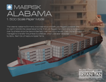 Maersk Alabama Paper Model by RocketmanTan