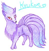 Kyukon The Shiny Ninetails by BubbleLum