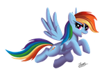 Rainbow Dash (without background) by Universe-of-Dusk