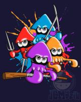 Teenage splatter ninja squids. by JCMaziu