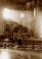 St Peter's Basilica bw by theh