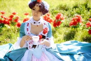 Anthy Himemiya. Tea time by gorlitsa