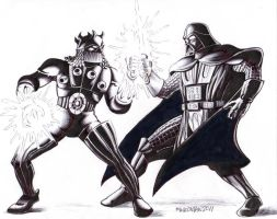 Darth Vader VS. Baron Karza by Disneywhite