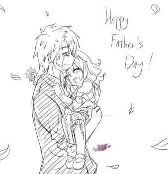 -Quick sketch- Happy Father's Day by NaughtyKittyDV-1992