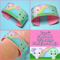Kawaii Plexiglass Bangle by bapity88
