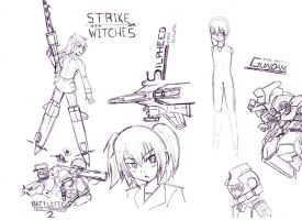 Random drawings by StrikeRougeMk2
