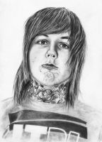 Oli Sykes drawing by Sandy515