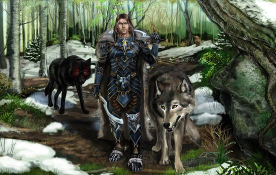 Wolf's Trials: Silent walk Damien and familiars by SYoshiko