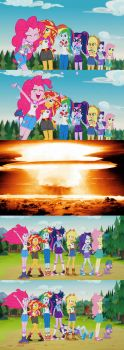Pinkie's explosion by sailorearth82