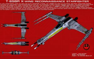 T-65BR Reconnaissance X-Wing ortho [New] by unusualsuspex