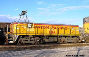 UPY # 104 slug locomotive @ Wann, IL by EternalFlame1891