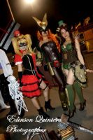 harley quinn, chica halcon, poison ivy by laurakyonlee