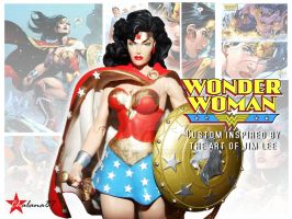 Wonder Woman Custom Action Figure Jim Lee inspired by Chalana87