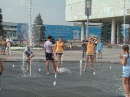 Ulianovsk's Sing Fountain's Square (summer 2013) by Sicilium