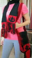 Fire Nation Scarf and Bag by ashesonfire