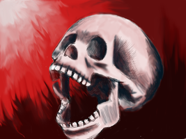 Skull Practice 1 by ReneeYV