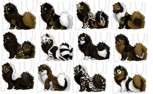 15 point adopts browns - white by Miss-Cotton-Tail