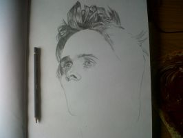 Jared Leto Rough Drawing by didoo0501