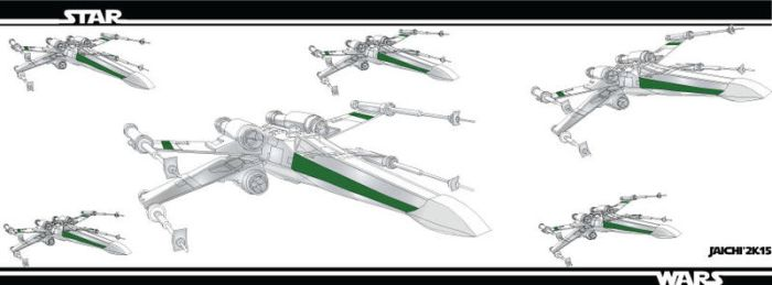 Star wars banner xwings by 3Ninja