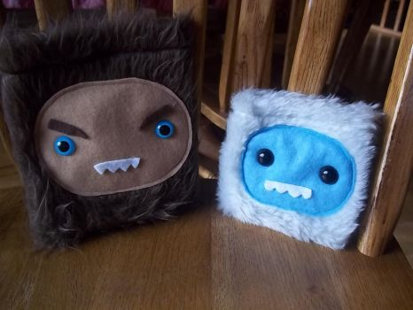 Cute Monster Sasquatch and Yeti Coin Purses by SuperRainbowOctopus