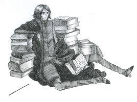Snape in books by HalfBlood-Prophetie