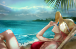 04 Sakura Rest on the Beach by Lesya7